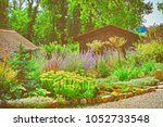 flowers at inner yard in a... | Shutterstock . vector #1052733548