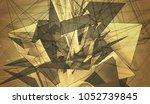 beautiful gold illustration... | Shutterstock . vector #1052739845