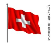 Flag Of Switzerland  Vector...