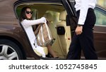 luxury taxi service  chauffeur... | Shutterstock . vector #1052745845