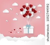 happy valentines day and... | Shutterstock .eps vector #1052749592