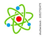 molecule atom symbol    Shutterstock .eps vector #1052752475