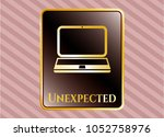 golden emblem or badge with... | Shutterstock .eps vector #1052758976