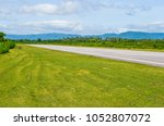 airport runway with marking | Shutterstock . vector #1052807072