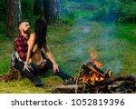 couple full of desire going... | Shutterstock . vector #1052819396