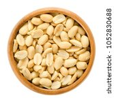 peanuts  roasted and salted  in ... | Shutterstock . vector #1052830688