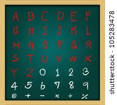 english alphabet   rough... | Shutterstock . vector #105283478