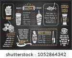 chalk on a blackboard menu... | Shutterstock .eps vector #1052864342