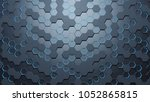 blue hexagon pattern.3d... | Shutterstock . vector #1052865815