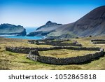dry stone walled growing areas... | Shutterstock . vector #1052865818