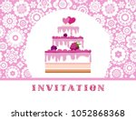 invitation for birthday ... | Shutterstock .eps vector #1052868368