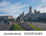 spain   december 13  city hall... | Shutterstock . vector #1052876285
