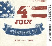 vintage styled card for fourth...   Shutterstock .eps vector #105287792