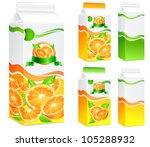 packages for juice  paper... | Shutterstock .eps vector #105288932