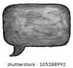 watercolor blank black speech... | Shutterstock . vector #105288992