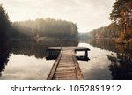the breath of autumn. autumn... | Shutterstock . vector #1052891912