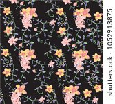 floral pattern in vector | Shutterstock .eps vector #1052913875