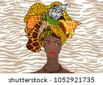 portrait of the young african... | Shutterstock .eps vector #1052921735