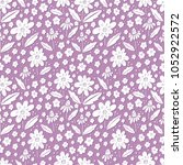 seamless vector floral pattern  ... | Shutterstock .eps vector #1052922572