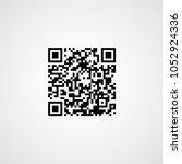 sample qr code. vector icon | Shutterstock .eps vector #1052924336