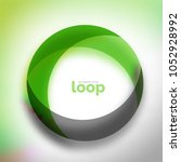 loop circle business icon ... | Shutterstock .eps vector #1052928992