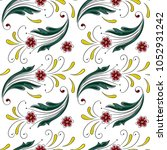 floral pattern in the many kind ... | Shutterstock .eps vector #1052931242