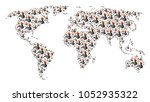 geographic map concept created... | Shutterstock . vector #1052935322