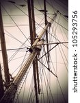 Mast Of Old Sailing Ship In...