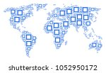 geographic map concept... | Shutterstock . vector #1052950172