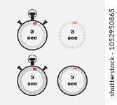 timer 3 seconds on gray... | Shutterstock .eps vector #1052950865
