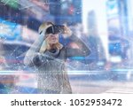 digital composite of futuristic ... | Shutterstock . vector #1052953472