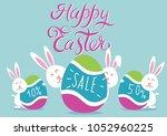 happy easter bunny. vector...   Shutterstock .eps vector #1052960225