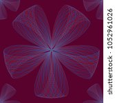 abstract linear seamless flower ... | Shutterstock .eps vector #1052961026