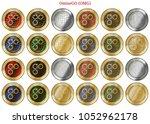 24 in 1 set of omisego  omg  ...   Shutterstock .eps vector #1052962178