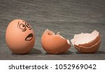 eggs faces  drawnigs on eggs.... | Shutterstock . vector #1052969042