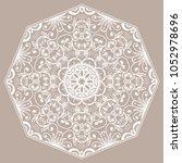 mandala isolated design element ... | Shutterstock .eps vector #1052978696