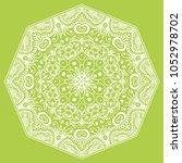 mandala isolated design element ... | Shutterstock .eps vector #1052978702