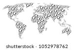 global world map collage... | Shutterstock .eps vector #1052978762