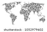 earth atlas pattern created of... | Shutterstock .eps vector #1052979602