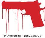 blood gun | Shutterstock .eps vector #1052980778