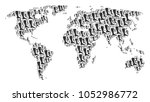 global map mosaic composed of... | Shutterstock .eps vector #1052986772