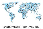 continental atlas collage made... | Shutterstock .eps vector #1052987402