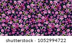 cute floral pattern in the... | Shutterstock .eps vector #1052994722