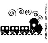silhouette of a toy train | Shutterstock .eps vector #1052996018