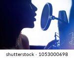 Close Up Of Girl In Headphones...