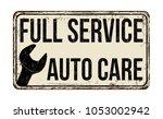full service  auto care vintage ... | Shutterstock .eps vector #1053002942