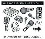 hip hop elements vol 2  ... | Shutterstock .eps vector #1053008318