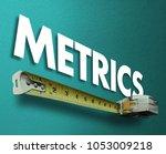 metrics measuring tape... | Shutterstock . vector #1053009218