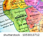 namibia africa isolated focus... | Shutterstock . vector #1053013712