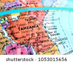 tanzania africa isolated focus... | Shutterstock . vector #1053015656